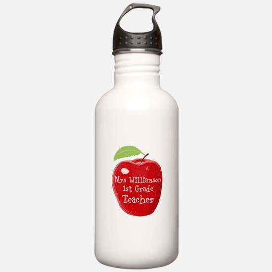 Personalised Teacher Apple Painting Sports Water B