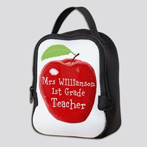 Personalised Teacher Apple Painting Neoprene Lunch