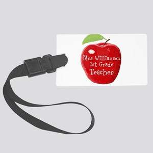 Personalised Teacher Apple Painting Large Luggage
