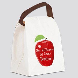 Personalised Teacher Apple Painting Canvas Lunch B