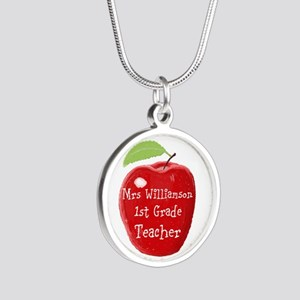 Personalised Teacher Apple Painting Necklaces