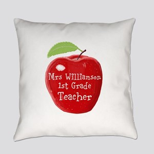 Personalised Teacher Apple Painting Everyday Pillo