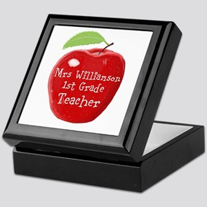 Personalised Teacher Apple Painting Keepsake Box