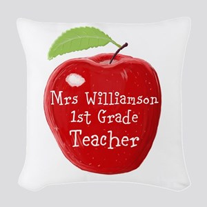 Personalised Teacher Apple Painting Woven Throw Pi