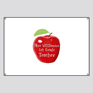 Personalised Teacher Apple Painting Banner