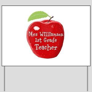 Personalised Teacher Apple Painting Yard Sign