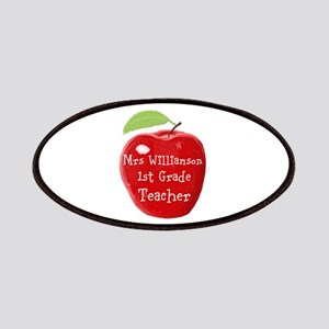 Personalised Teacher Apple Painting Patch