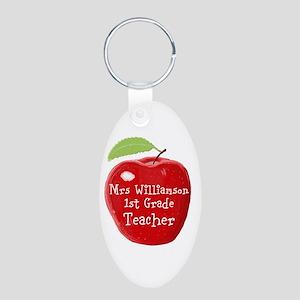 Personalised Teacher Apple Painting Keychains
