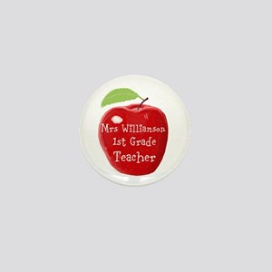 Personalised Teacher Apple Painting Mini Button