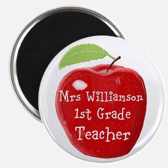 Personalised Teacher Apple Painting Magnets