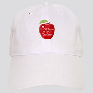 Personalised Teacher Apple Painting Cap