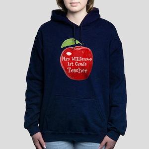 Personalised Teacher Apple Painting Women's Hooded