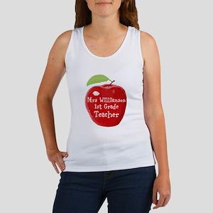 Personalised Teacher Apple Painting Tank Top