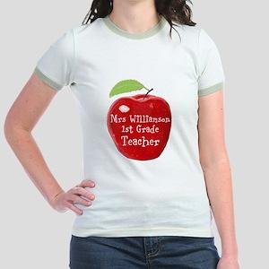 Personalised Teacher Apple Painting T-Shirt