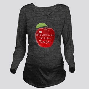 Personalised Teacher Apple Painting Long Sleeve Ma