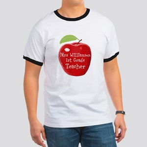 Personalised Teacher Apple Painting T-Shirt
