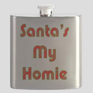 Santa's My Homie Flask