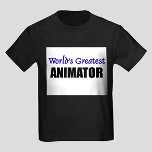 Worlds Greatest ANIMATOR Kids Dark T-Shirt