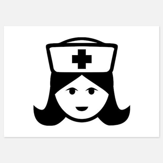 Nurse head face Invitations