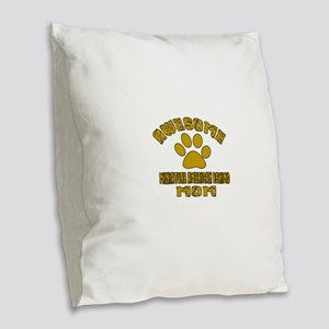 Awesome Miniature American Esk Burlap Throw Pillow