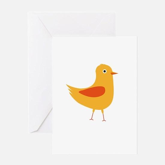Yellow cute bird Greeting Cards