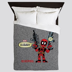 Deadpool Gonna Die Queen Duvet
