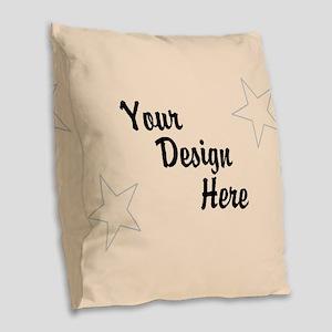 Your Image Here Burlap Throw Pillow