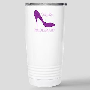 Purple Bridesmaid Stainless Steel Travel Mug
