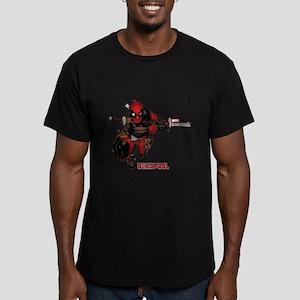 Deadpool Slash Men's Fitted T-Shirt (dark)
