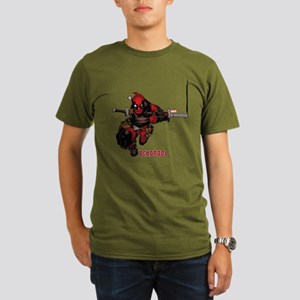 Deadpool Slash Organic Men's T-Shirt (dark)