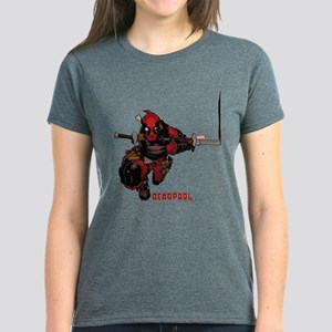 Deadpool Slash Women's Dark T-Shirt