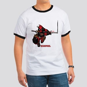 Deadpool Slash Ringer T