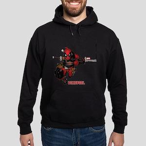 Deadpool Slash Hoodie (dark)