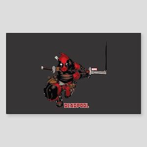 Deadpool Slash Sticker (Rectangle)