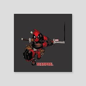 "Deadpool Slash Square Sticker 3"" x 3"""