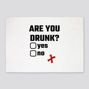 Are You Drunk? Yes No 5'x7'Area Rug