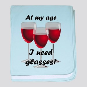 At my age I need glasses! baby blanket