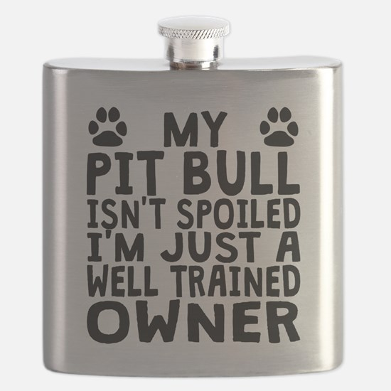 Well Trained Pit Bull Owner Flask