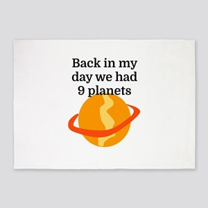 Back in my day we had 9 planets 5'x7'Area Rug