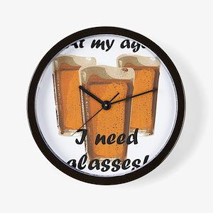 At my age I need glasses! Wall Clock