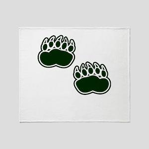 Bear Paws Throw Blanket