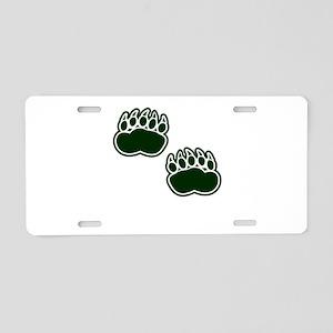 Bear Paws Aluminum License Plate