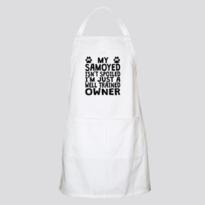 Well Trained Samoyed Owner Apron