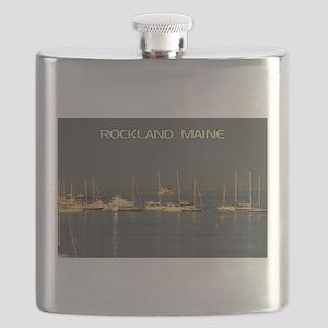 Rockland Harbor, Maine Flask