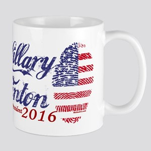 Hillary Clinton 2016 Thumbprint Mugs