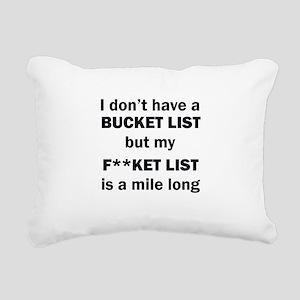 FUCKET LIST Rectangular Canvas Pillow