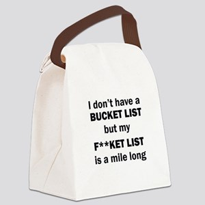 FUCKET LIST Canvas Lunch Bag
