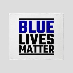 Blue Lives Matter Throw Blanket