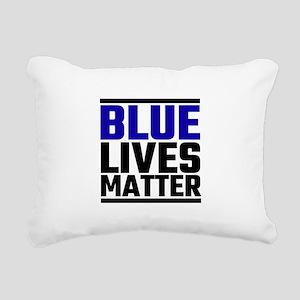 Blue Lives Matter Rectangular Canvas Pillow