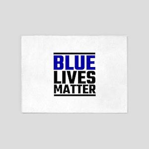 Blue Lives Matter 5'x7'Area Rug